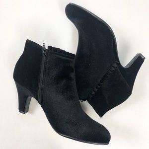 Aersoles Black Velvet Booties